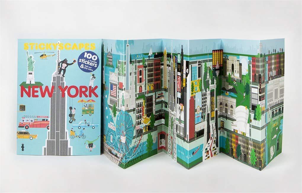 Uzlīmju grāmata: Stickyscape New York