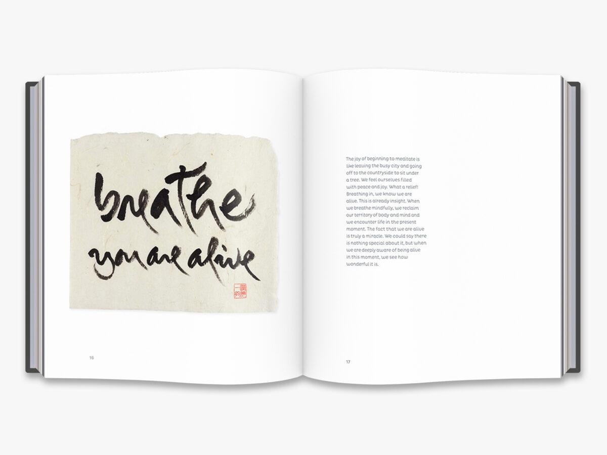 "Grāmata: The zen calligraphy of Thich nhat hanh"""