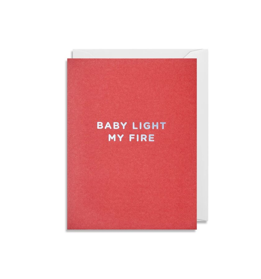 Atklātnīte ar aploksni BABY LIGHT MY FIRE (9 x 12 cm)