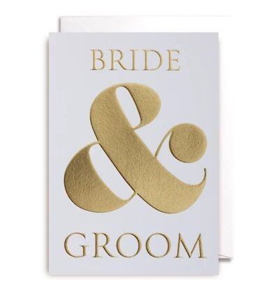 Atklātnīte ar aploksni BRIDE & GROOM (10.5 x 15.5 cm)