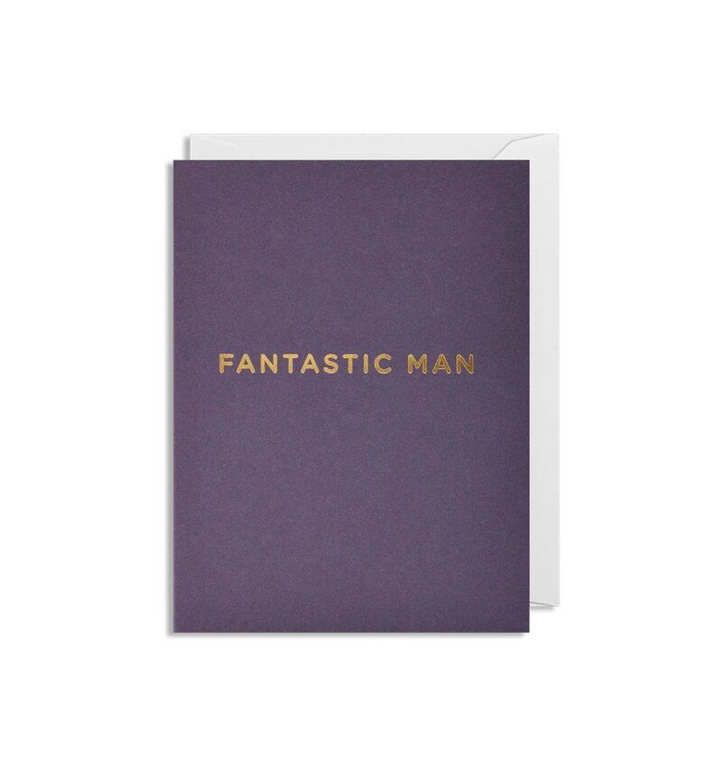 Atklātnīte ar aploksni FANTASTIC MAN (9 x 12 cm)
