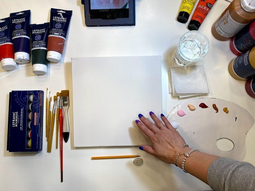 """Video-pamācība """"Kā gleznot peonijas"""" / akrila krāsas"""