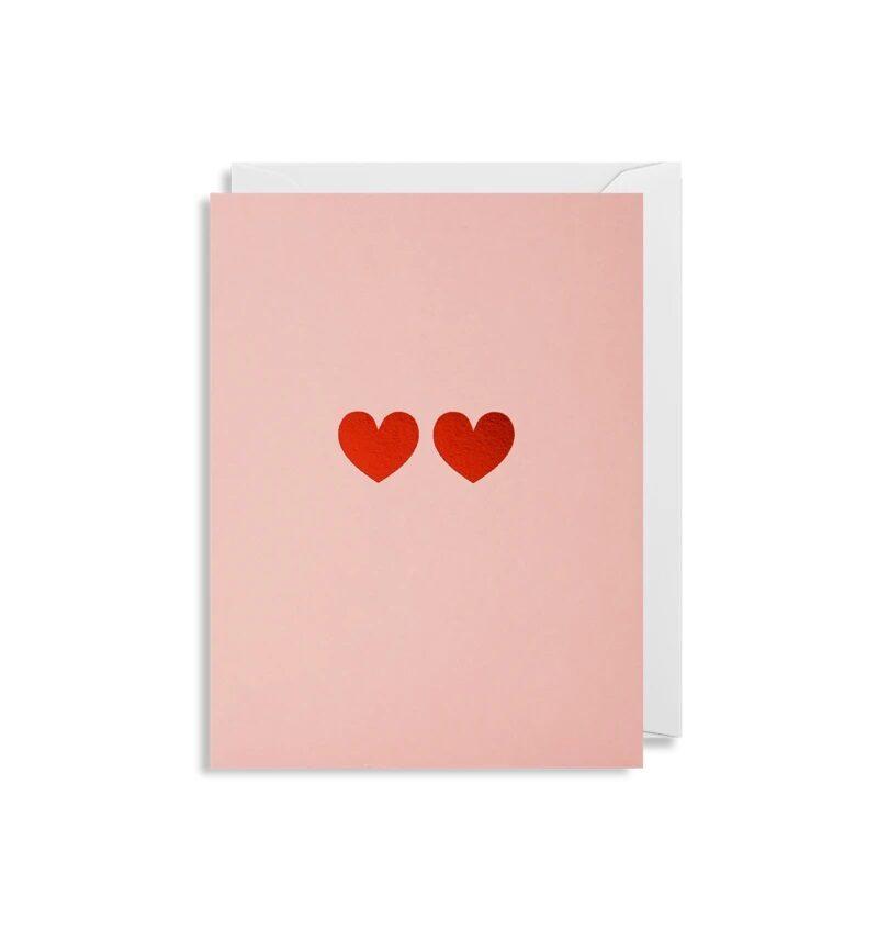 Atklātnīte ar aploksni LITTLE 2 HEARTS (9 x 12 cm)