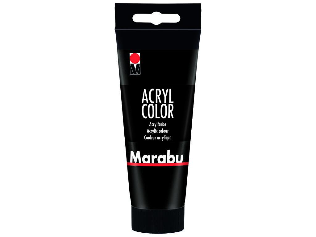 Akrila krāsa Marabu 100ml 073 black