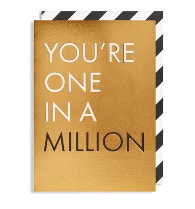 Atklātnīte ar aploksni ONE IN A MILLION (10.5 x 15.5 cm)