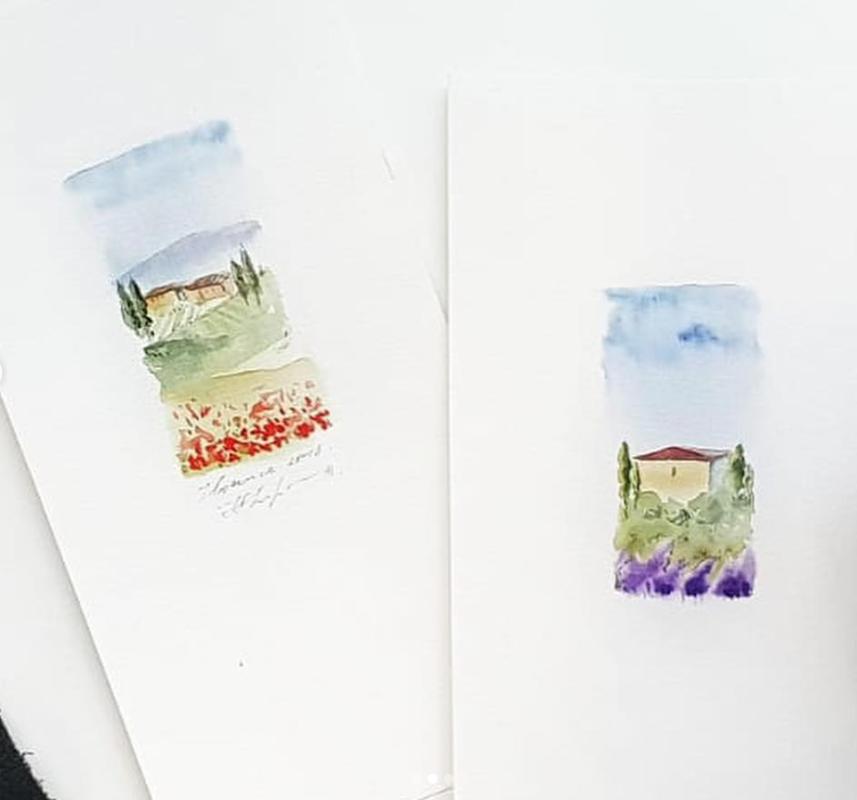 """13.11. SESTDIENA 15.00-17.30 """"Ātras akvareļu skices/kartiņas"""""""