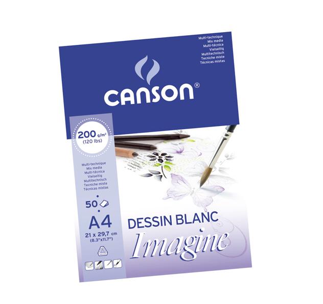 Mix-media papīra zīmēšanas bloks Canson Mix Media Imagine