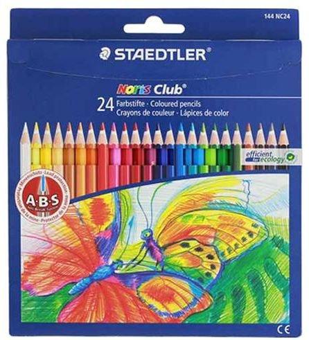 Krāsainie zīmuļi STAEDTLER NORIS CLUB 24 krāsu komplekts