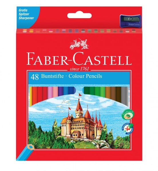 Krāsainie zīmuļi Faber-Castell Eco 48 krāsas + asināmais