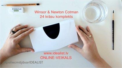 Video-apraksts: Akvareļu komplekts W&N 24 krāsas