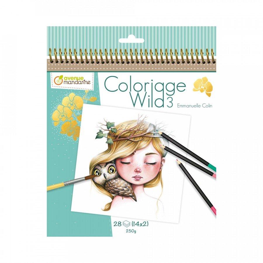 "Krāsojama grāmata: ""Coloriage Wild 3"" / Emmanuelle Colin"