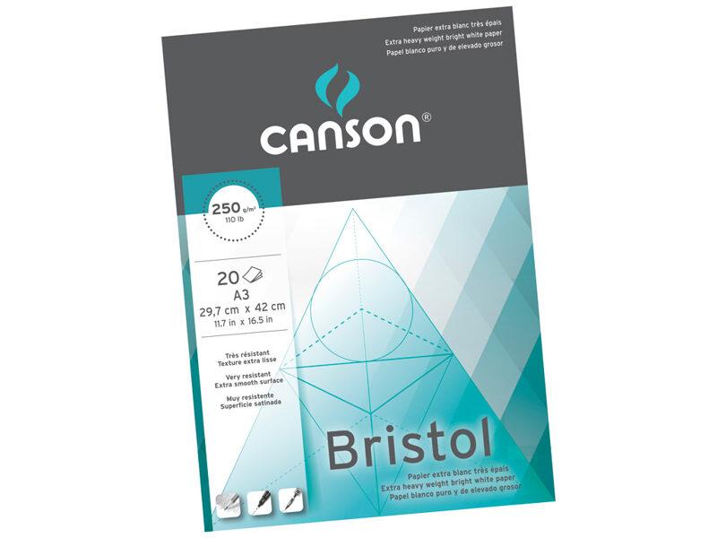CANSON rasēšanas papīrs Bristol A3