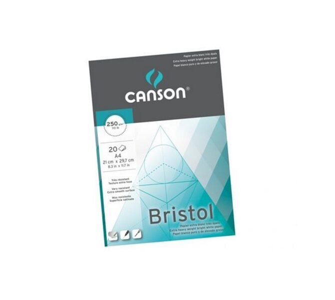 CANSON rasēšanas papīrs Bristol A4
