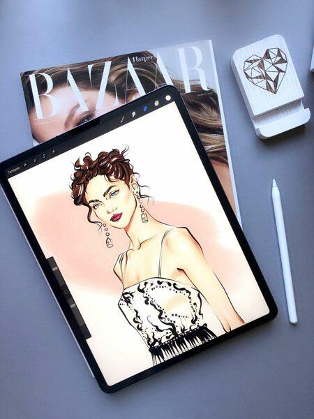 """No 01.10. Kurss """"Digitāla ilustrācija ar IPAD. Fashion Face"""" Vakara grupa"""