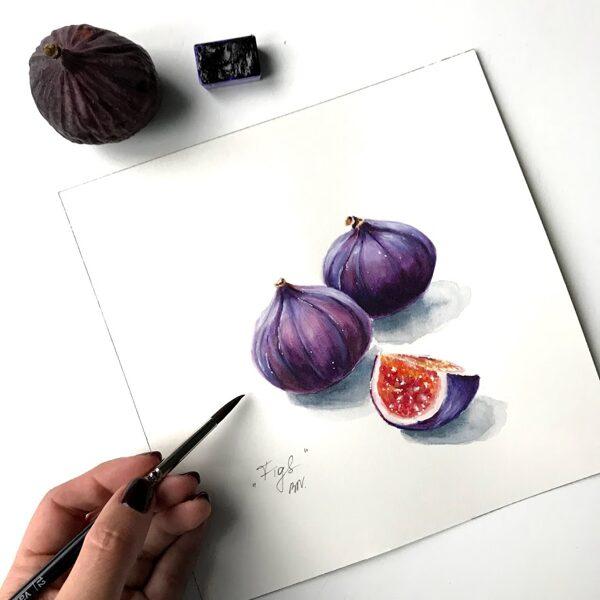 """No 08.07. Kurss """"Akvareļu tehnikas pamati""""/ Rīta grupa"""
