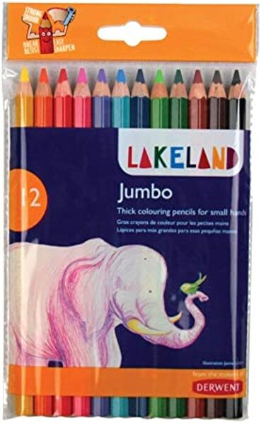Krāsainie zīmuļi Derwent Jumbo 12 krāsas