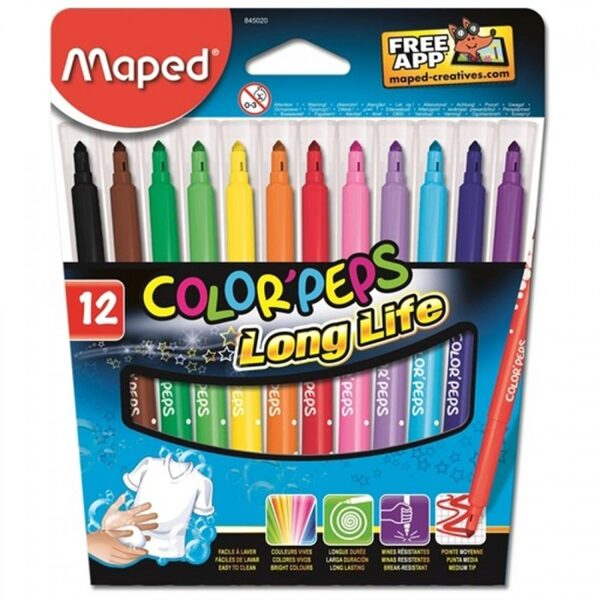 Flomāsteri Maped Color'Peps 12 gab