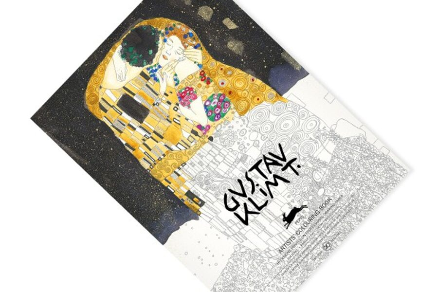 Gustav Klimt krāsojamā grāmata ar akvareļu papīru / 25 x 34 cm