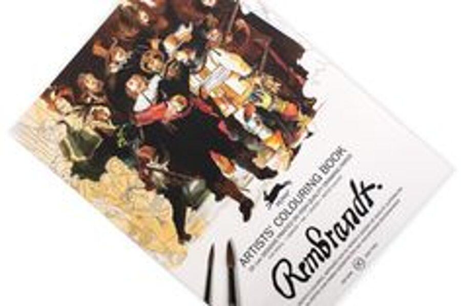 Rembrandt krāsojamā grāmata ar akvareļu papīru / 25 x34 cm