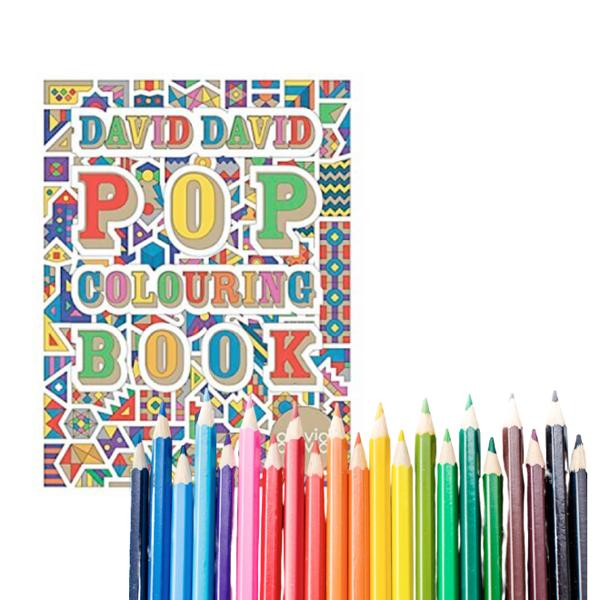 Krāsojamā grāmata: POP Coloring book A4