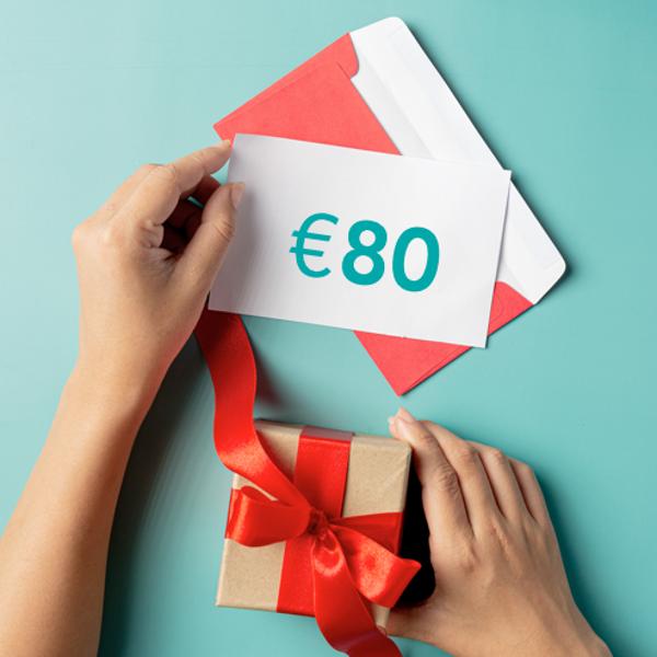 Dāvanu sertifikāts €80 vērtībā