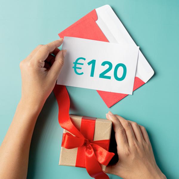 Dāvanu sertifikāts €120 vērtībā