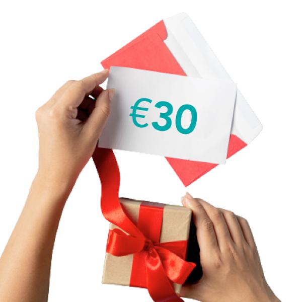 Dāvanu sertifikāts €30 vērtībā