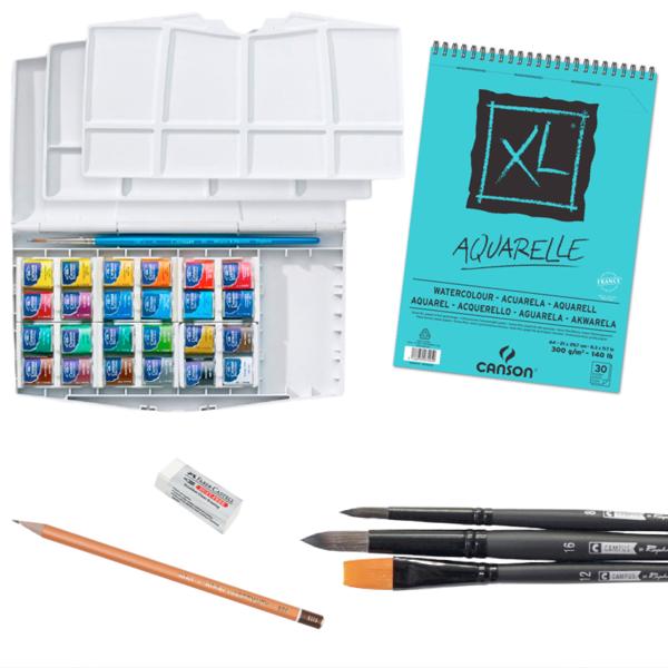 Komplekts iesācējiem: BASIC PLUS (akvareļu tehnika)