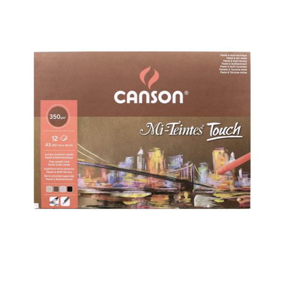 Pasteļpapīra bloks Canson Mi-Teintes Touch/ A3 29,7cm*42cm