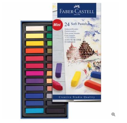 Pasteļkrītiņi Faber Castell: 24 krāsas 1/2 STICK (Pusītes)