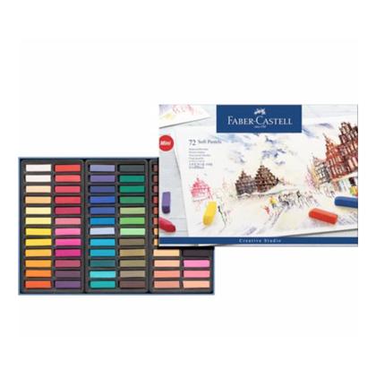 Pasteļkrītiņi Faber Castell: 72 krāsas 1/2 STICK (Pusītes)
