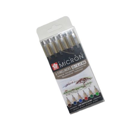 SAKURA Pigma Micron 6 rapidogrāfu komplekts/ 6 krāsas