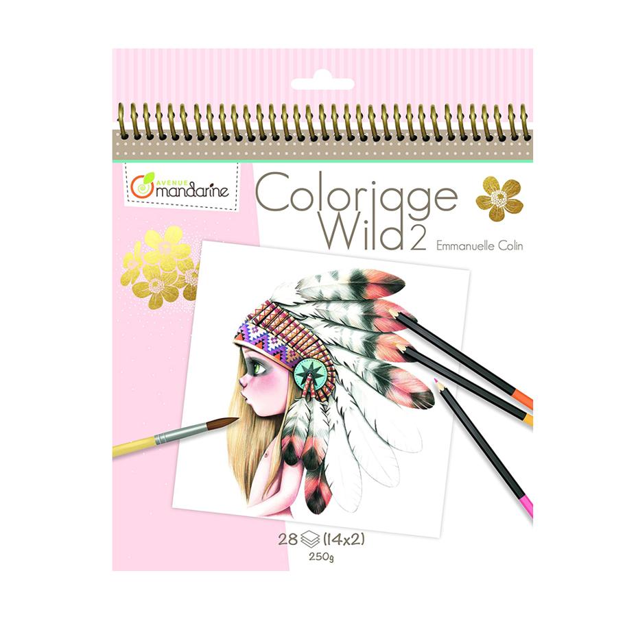 "Krāsojama grāmata: ""Coloriage Wild 2"" / Emmanuelle Colin"