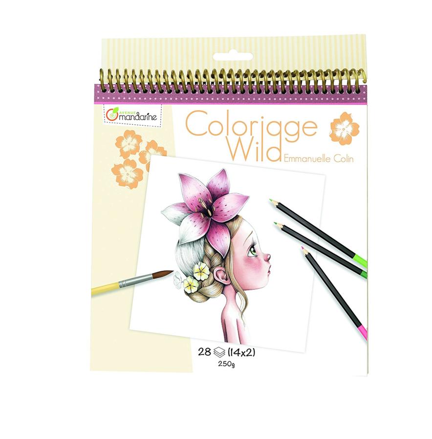 "Krāsojama grāmata: ""Coloriage Wild"" / Emmanuelle Colin"
