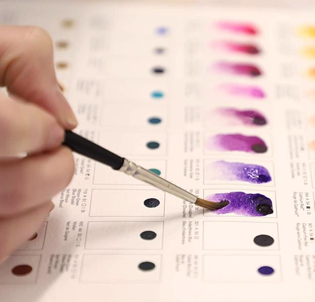 W&N Professional Watercolour: 109 krāsu DOT CARD