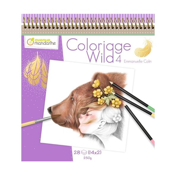 """Krāsojamā grāmata: """"Coloriage Wild 4"""" / Emmanuelle Colin"""