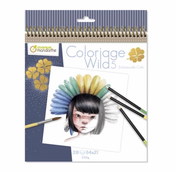 """Krāsojamā grāmata: """"Coloriage Wild 5"""" / Emmanuelle Colin"""