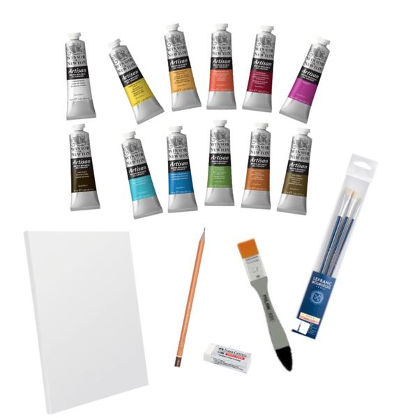 Eļļas krāsu komplekts iesācējiem: BASIC PLUS