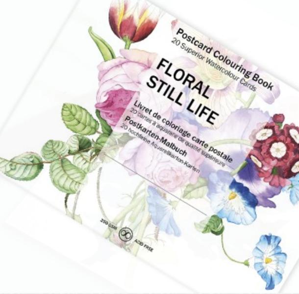 Ziedu kompozīciju krāsojamās kartiņas