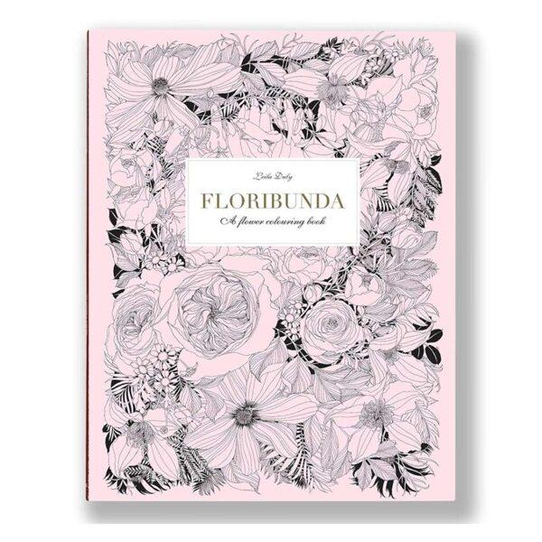 Krāsojamā grāmata: Floribunda: A Flower Coloring Book