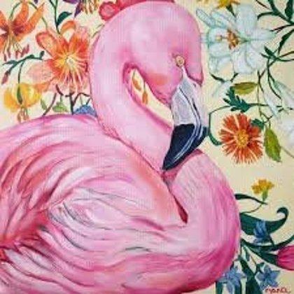 """25.07. Nodarbība """"Flamingo"""" /eļļa/ SESTDIEN 10:30-13:00"""